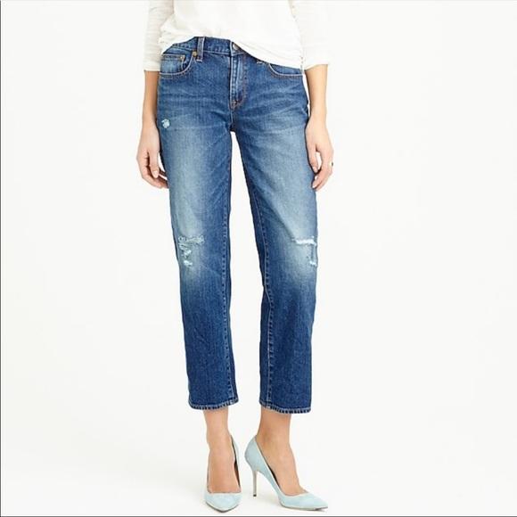J. Crew Distressed Wide Leg Crop Jeans 26